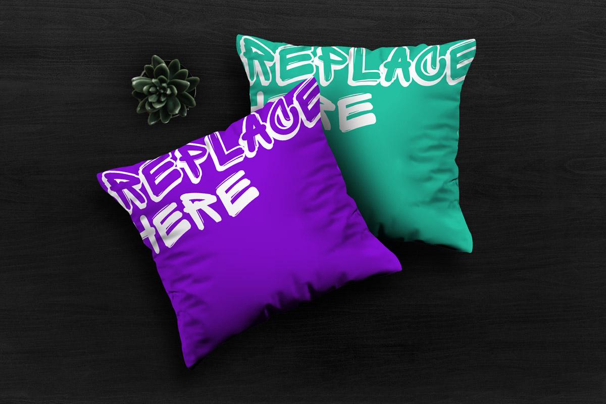 Free Pillows Mockup