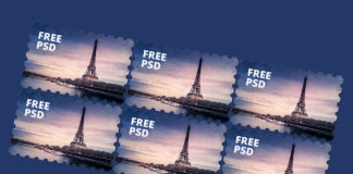 Free Post Stamps Mockup