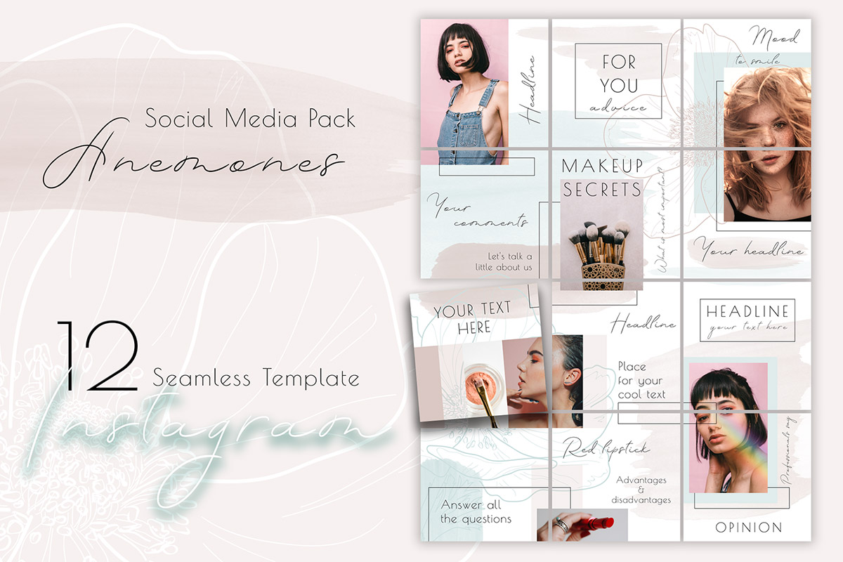 Free Puzzle Instagram Template
