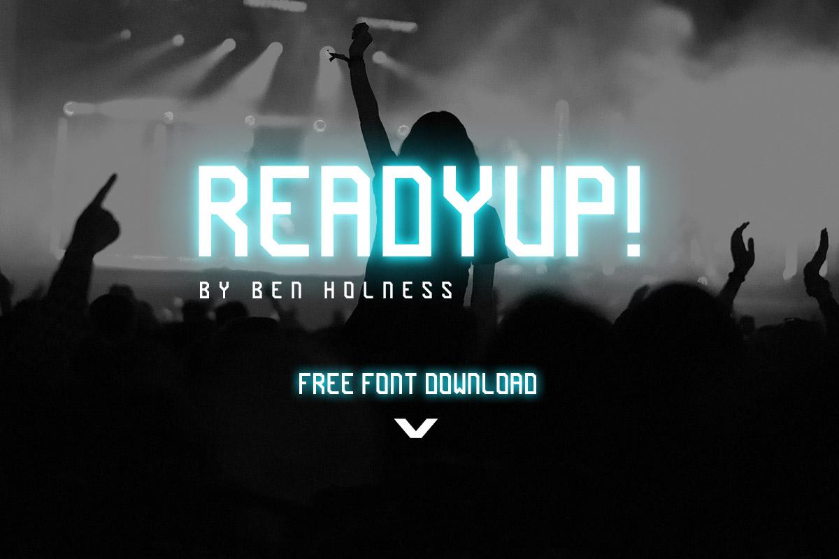 Free ReadyUp Sans Serif Font