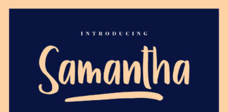Free Samantha Display Font