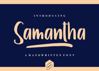 Free Samantha Display Font