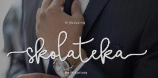 Free Skolateka Script Calligraphy Font Family
