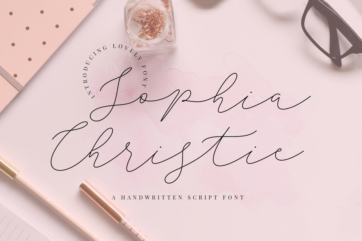 Free Sophia Christie Script Font