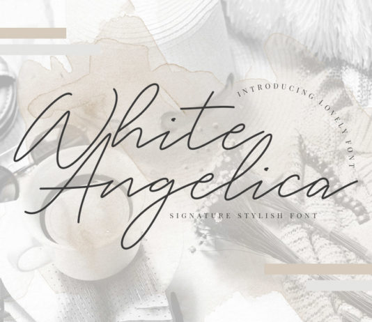 Free White Angelica Signature Font