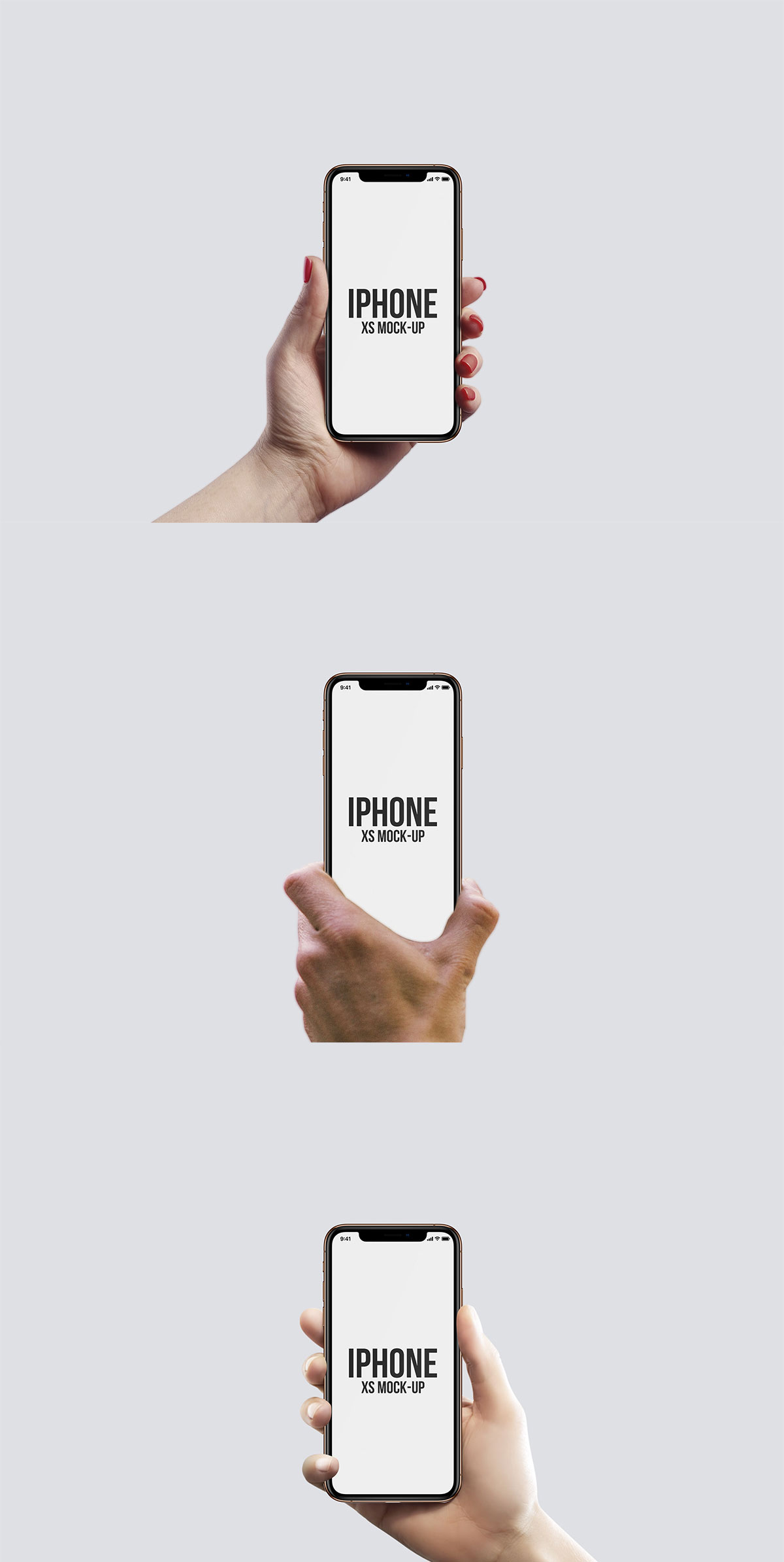 Free iPhone XS Hand Mockups