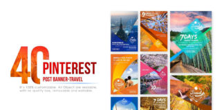 Free 40 Pinterest Travel Banners