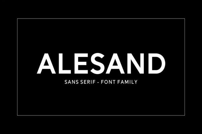 Free Alesand Sans Serif Font Family