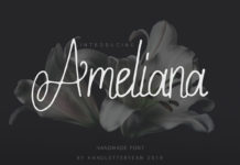 Free Ameliana Handwritten Font