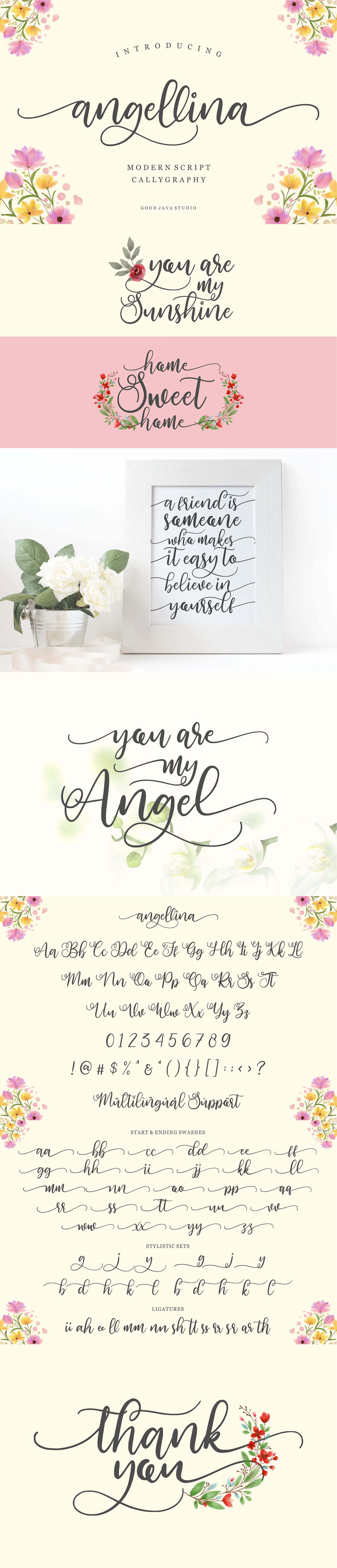 Free Angellina Script Font