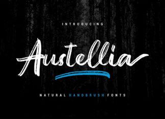 Free Austellia Handbrush Font