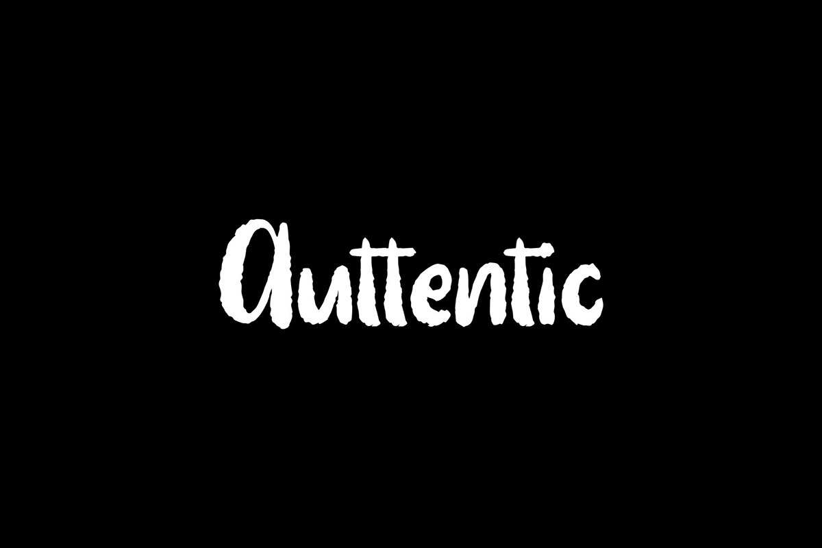 Free Auttentic Display Font