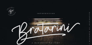 Free Bratarini Handwiting Font