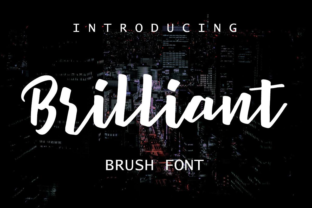 Free Brilliant Brush Font