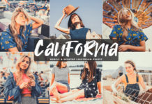 Free California Lightroom Preset