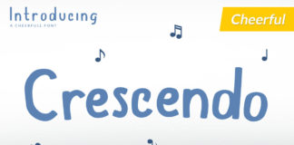 Free Crescendo Display Font