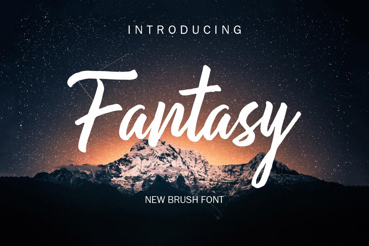 Free Fantasy Brush Font