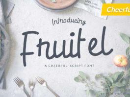 Free Fruitel Kids School Script Font