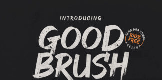 Free Good Brush Font