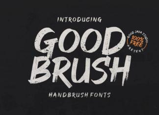 Free Good Brush Font