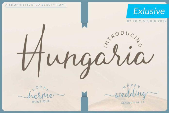 Free Hungaria Script Font