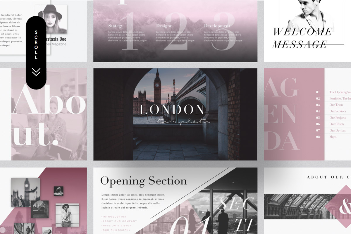 Free London Minimal Powerpoint & Keynote Template - Creativetacos