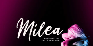 Free Milea Handwritten Brush Font