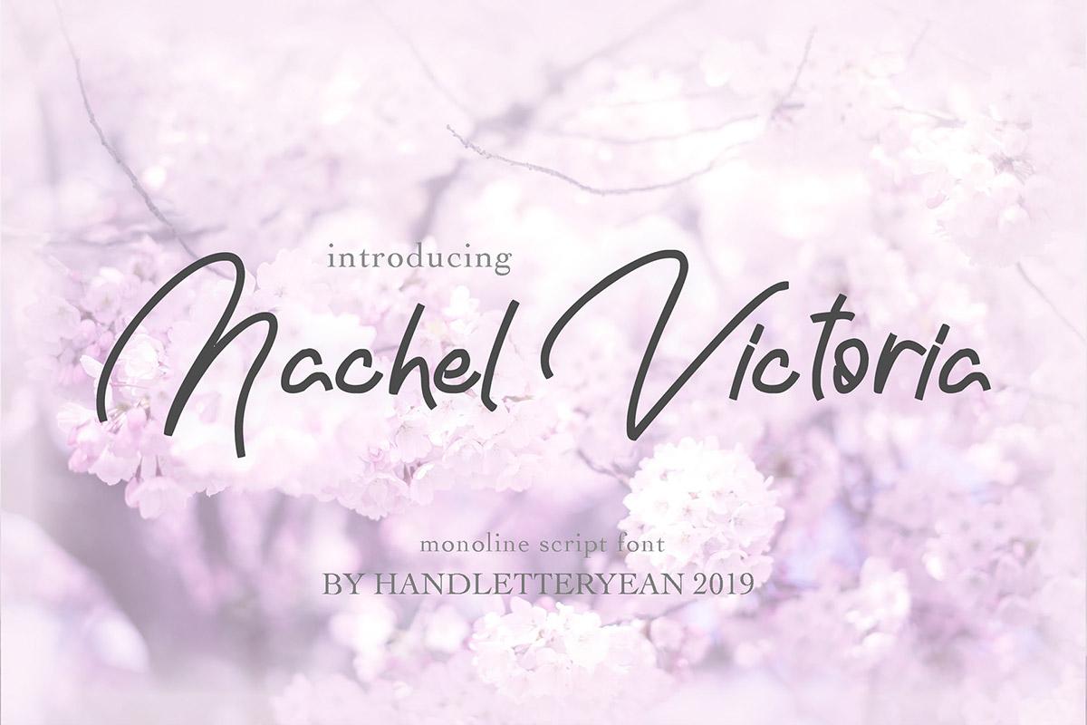 Free Nachel Victoria Script Font