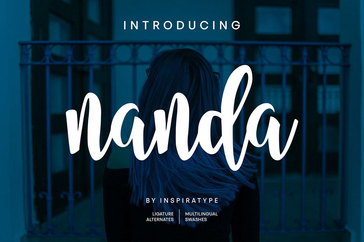 Free Nanda Script Font