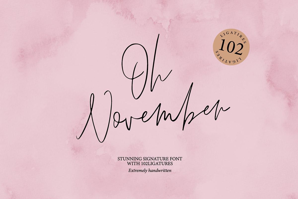 Free Oh November Trendy Script Font
