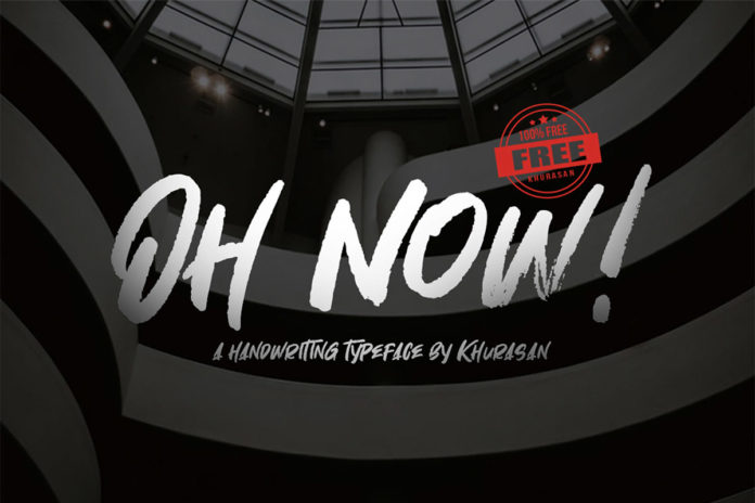 Free Oh Now Handwritten Font