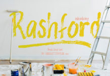 Free Rashford Brush Font