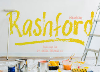 Free Rashford Brush Font