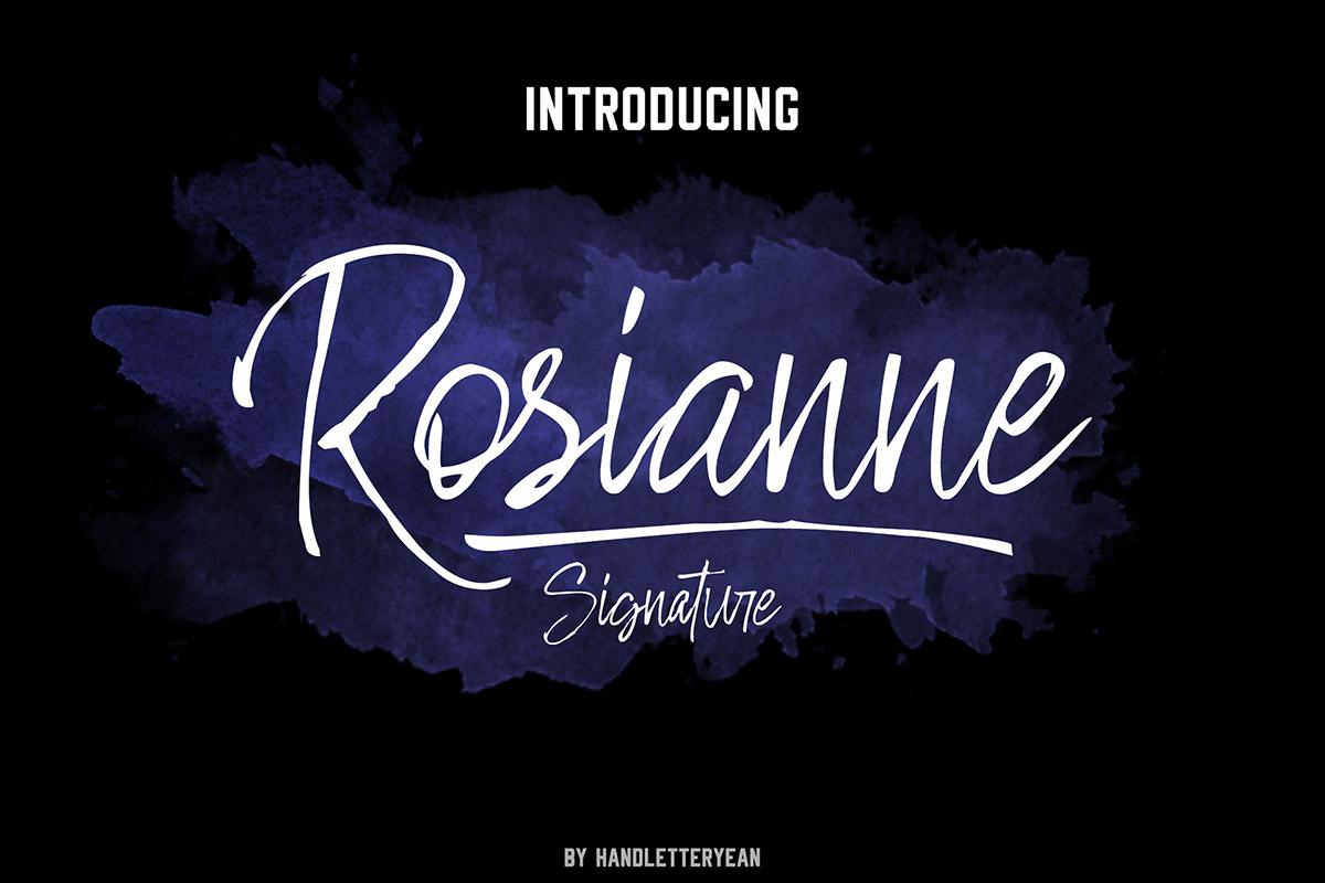 Free Rosianne Handwritten Font