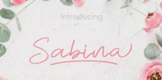 Free Sabina Handwritten Font