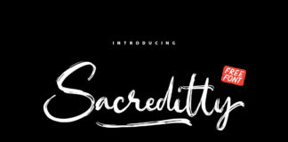 Free Sacreditty Handbrush Font