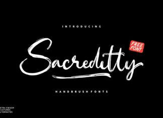 Free Sacreditty Handbrush Font