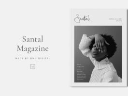 Free Santal Magazine Editorial Template