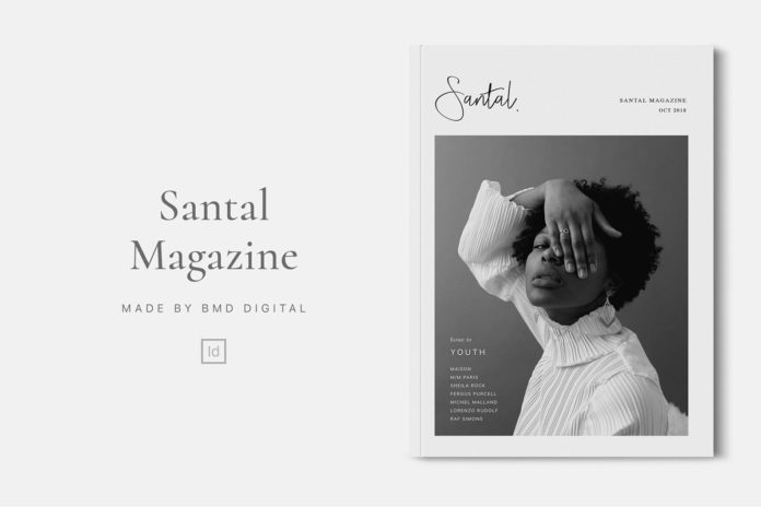 Free Santal Magazine Editorial Template