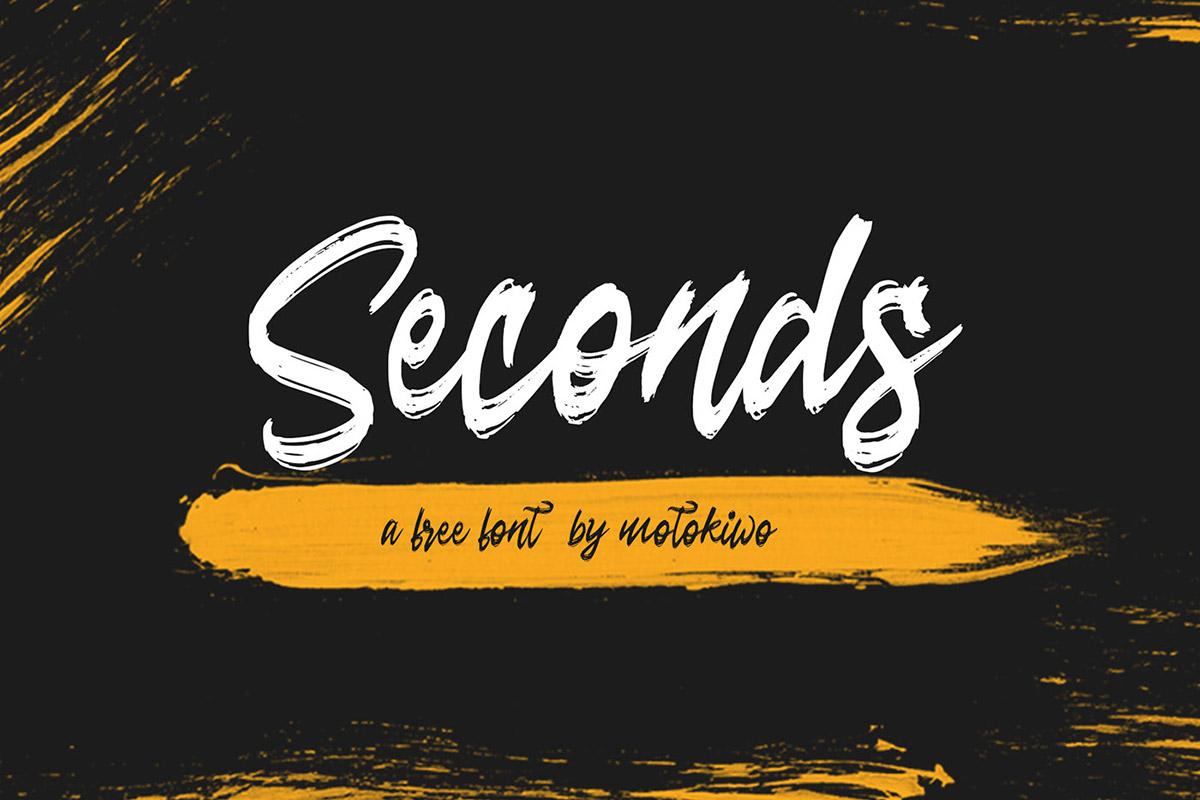 Free Seconds Brush Script Font