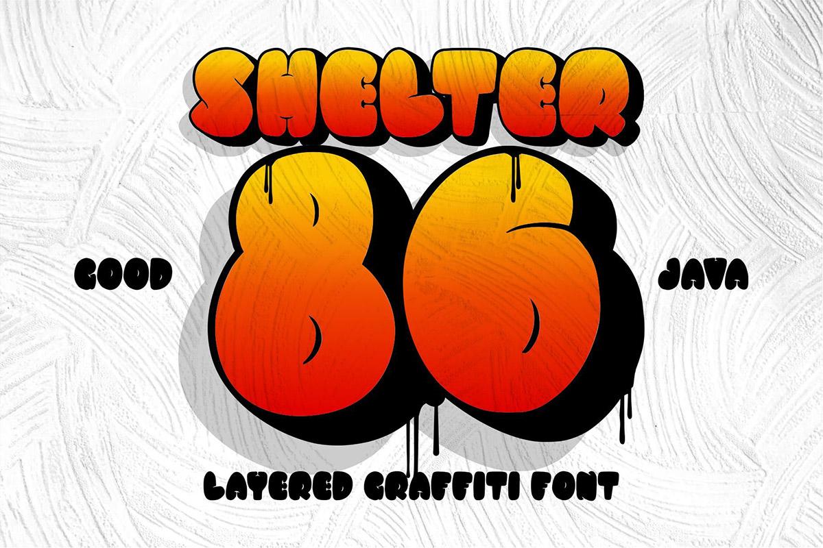 Free Shelter 86 Graffiti Font