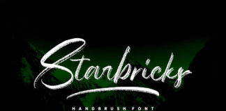 Free Starbricks Handbrush Font
