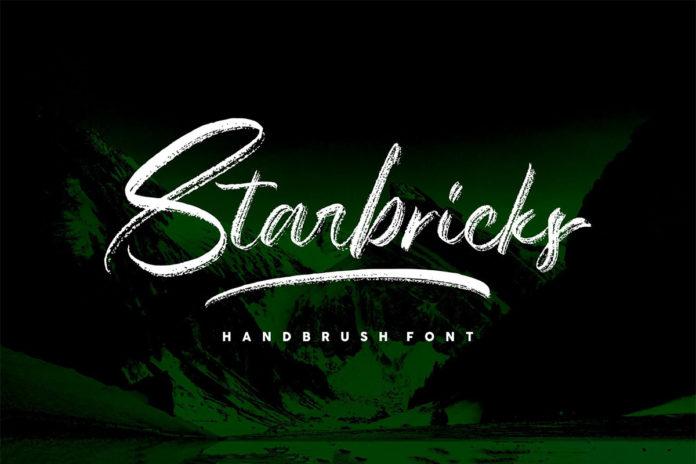 Free Starbricks Handbrush Font