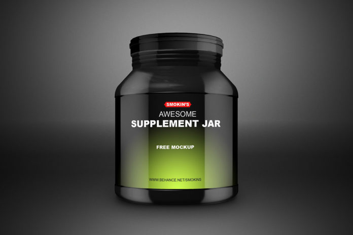 Free Supplement Jar Mockup