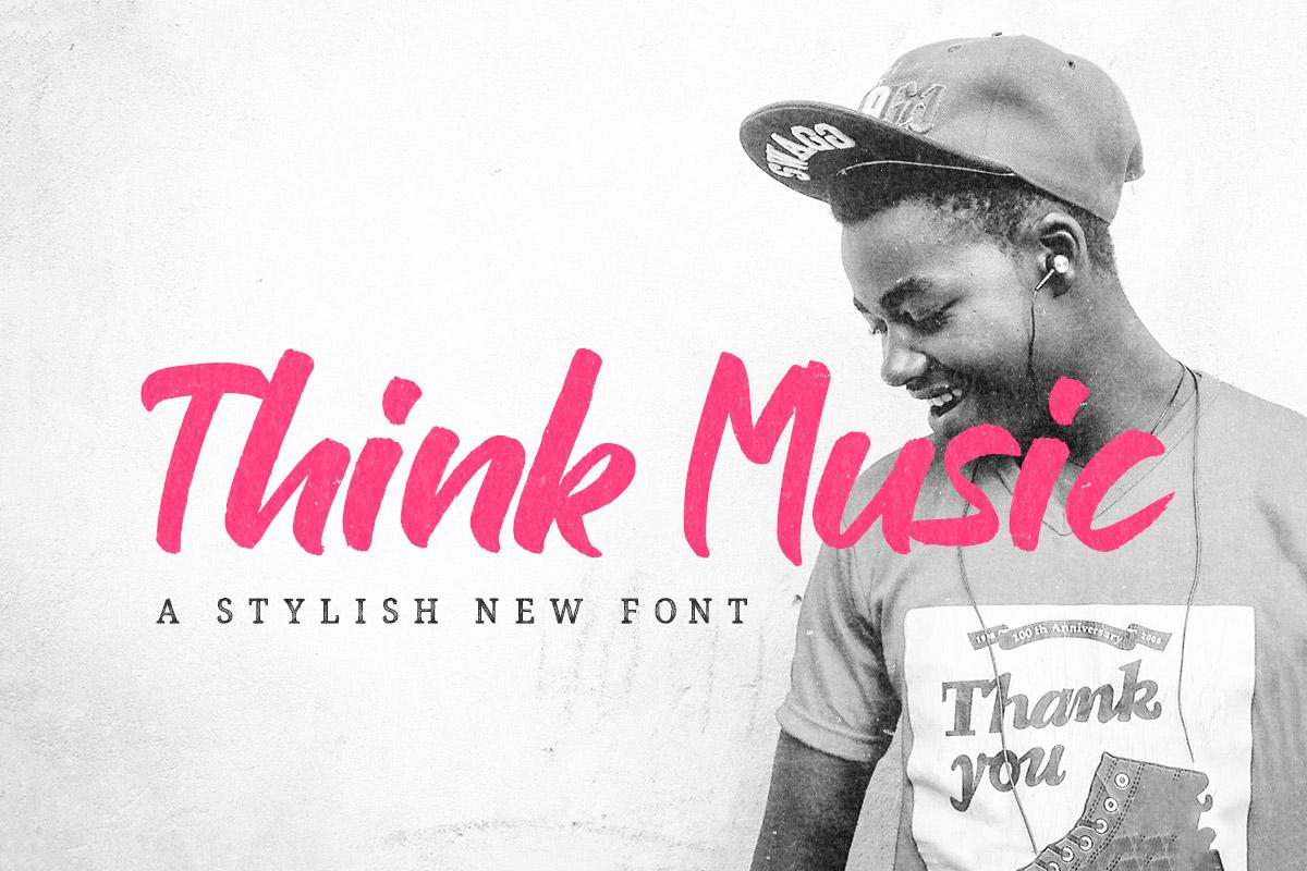 Free Think Music Brush Font