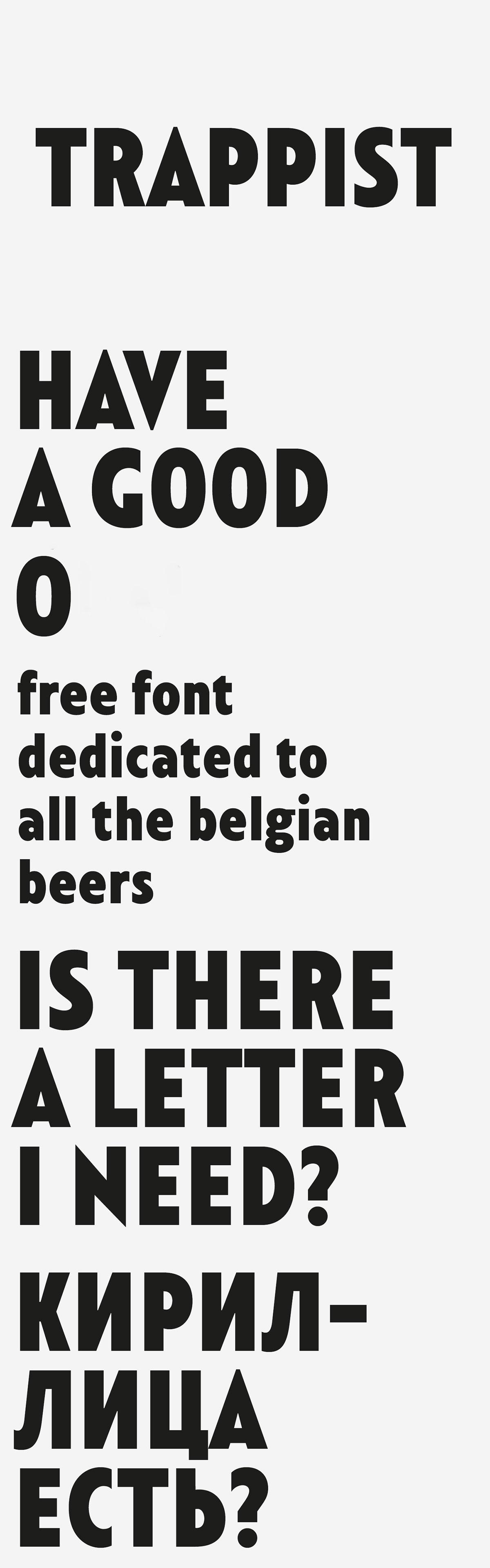 Free Trappist Sans Serif Font