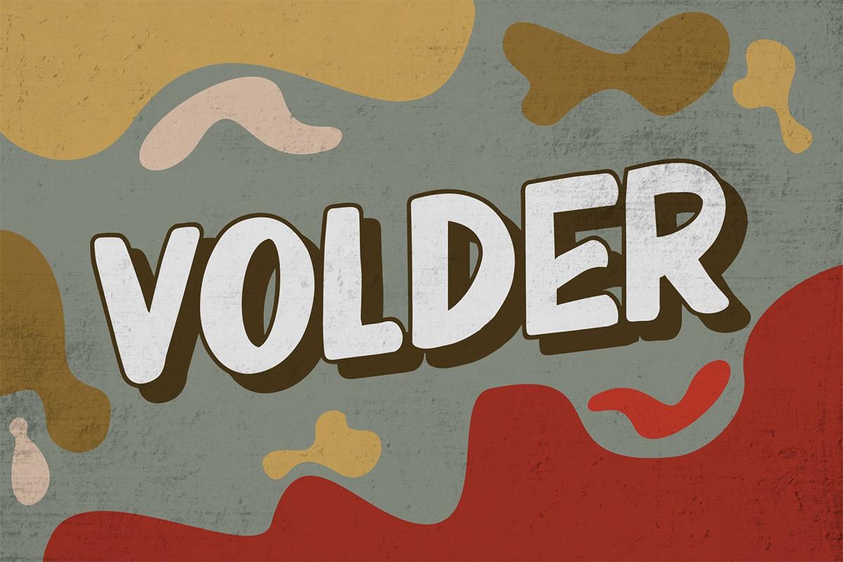 Free Volder Display Font