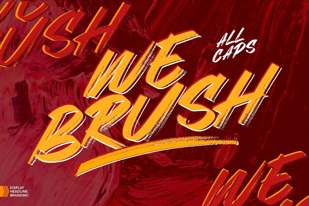 Free Webrush Display Font