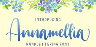 Free Annamellia Handlettering Font
