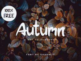 Free Autumn Brush Font